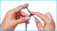 picture of hands crocheting