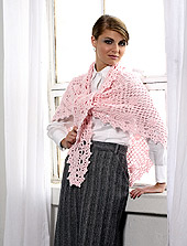 image of front view of shawl