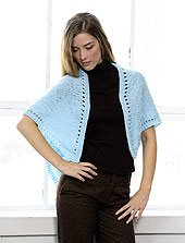 Knit Triangular Shawl front photo