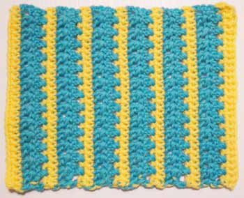 Crossed Doubles Stripe WUA Block