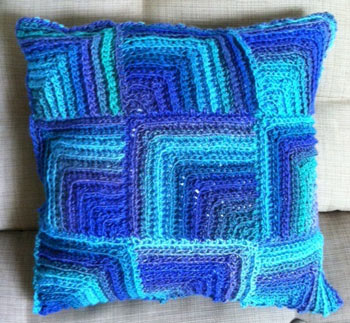 Kristin Olmdahl's Beach Tile Pillow