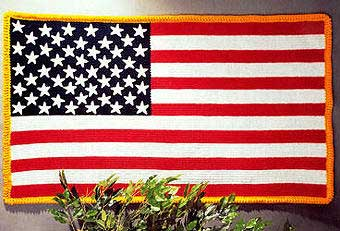 Free Star Flag Afghan Pattern from CitiUSA for Crochethttp