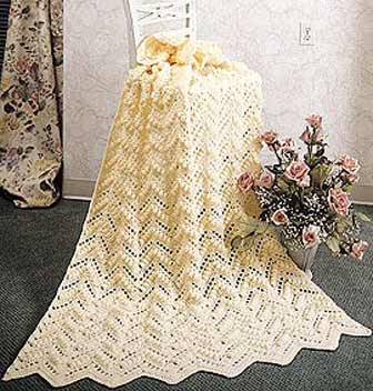 Does any one have a pattern for an zig zag afghan using the