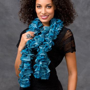 Crochet Sashay(r) Ruffled Scarf
