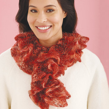Imagine® Knitted Ruffled Tube Scarf