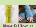 knit scarf and fingerless gloves