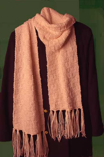Fringed With Ribbon Scarf Welcome To The Craft Yarn Council