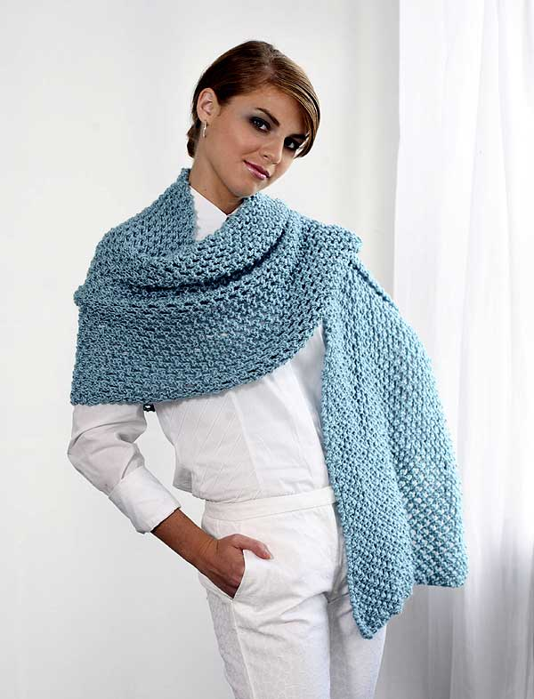 Rectangular Openwork Shawl To Knit Front Welcome To The
