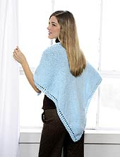 Knit Triangular Shawl back photo