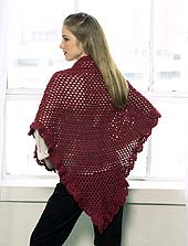 crocheted shawl 2 of 3