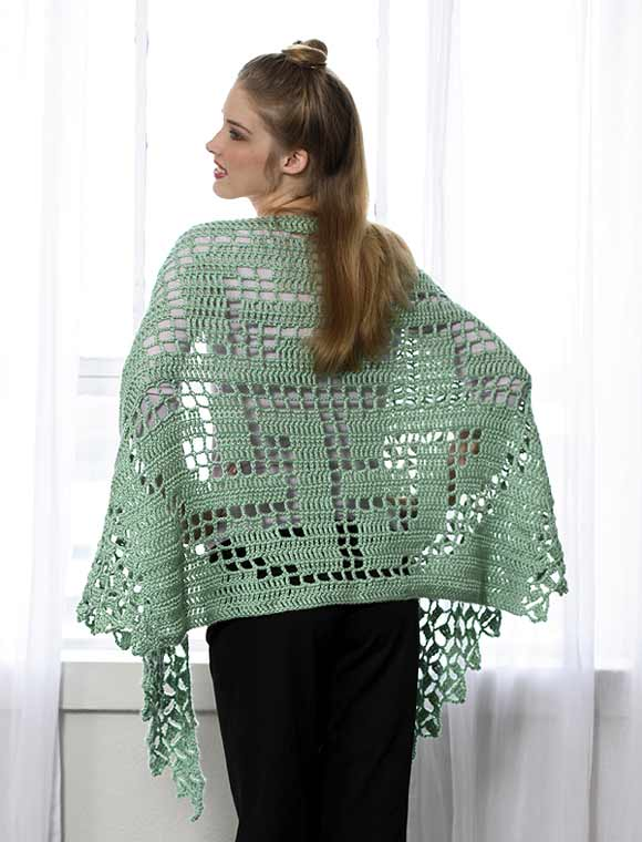 Celtic Knot Shawl to Crochet (back)