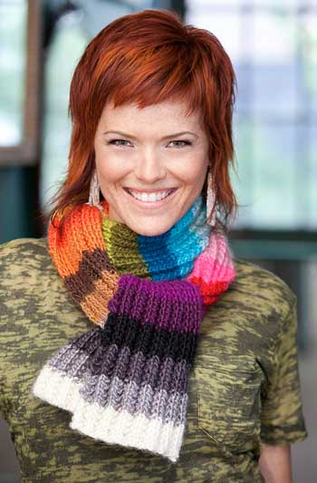 Vickie Howell Color Card Scarf