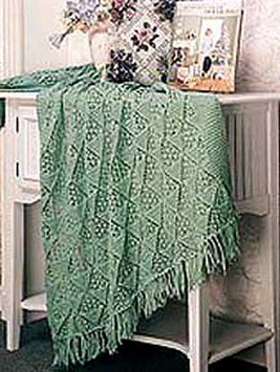 Lacy Pyramid Knit Afghan Welcome To The Craft Yarn Council