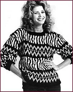 Black and White Knit Pullover   Welcome to the Craft Yarn Council