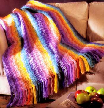 Rainbow Afghan Crochet Welcome To The Craft Yarn Council