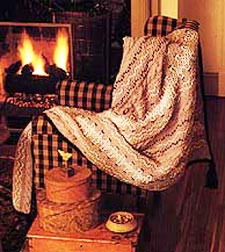 Knit Swedish Embroidery Afghan
