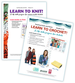 Learn to Knit and Crocher lesson plan covers