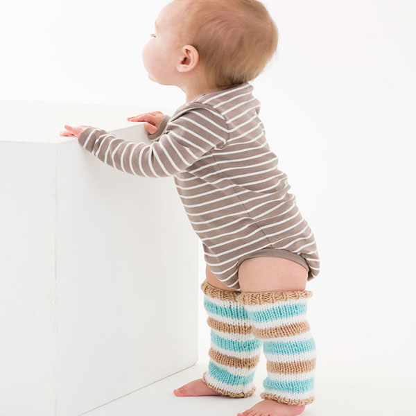 Simple striped baby legwarmers