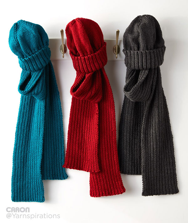 Men's scarf and hat set